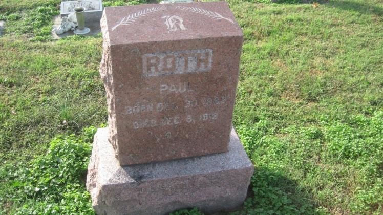 Paul Roth gravestone Trinity Shawneetown MO
