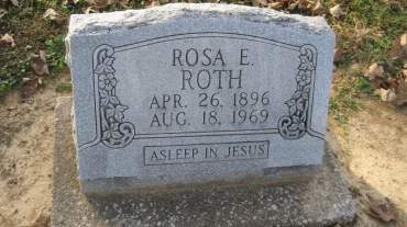 Rosa Roth gravestone Trinity Shawneetown MO
