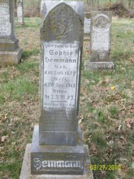 Sophie Hemmann gravestone Grace Uniontown MO