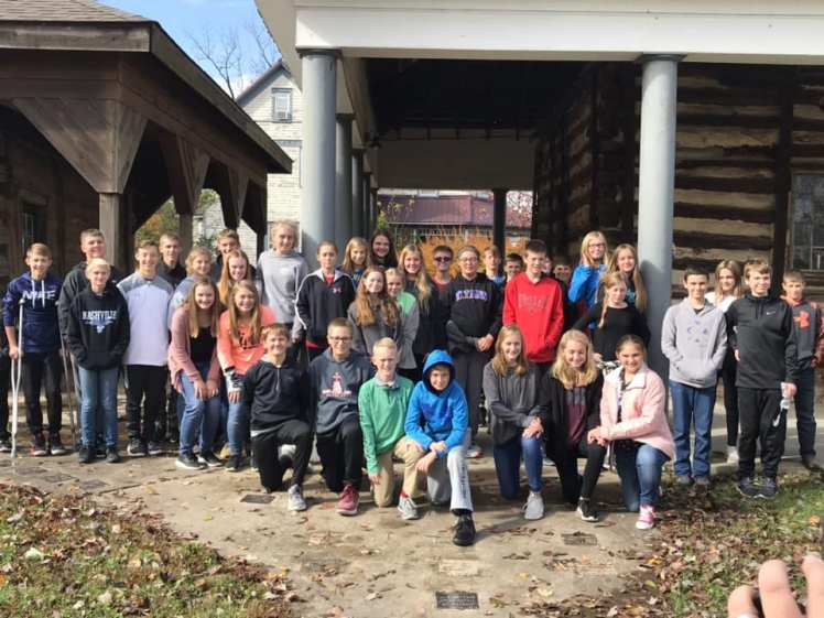 TSJ ILS students at museum Okawville and Nashville Illinois