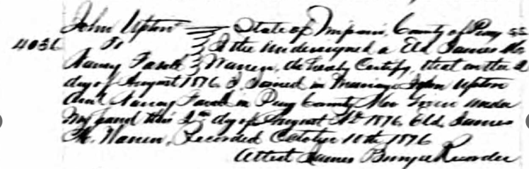 Upton Fasott marriage record Perry County 1876