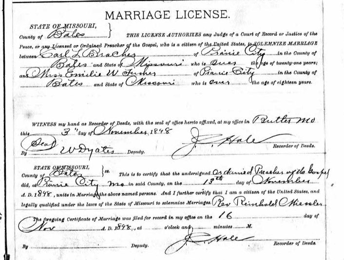 Bracher Fischer marriage license