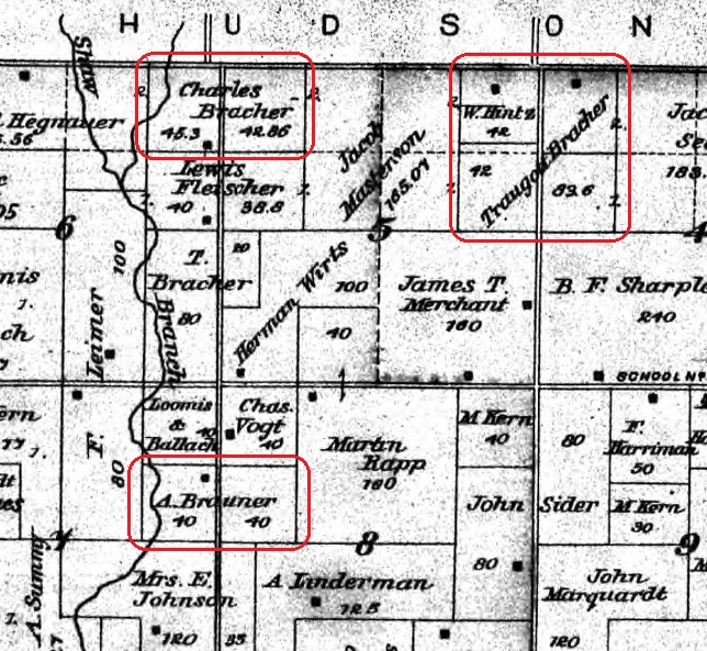 Bracher land map Bates County 2
