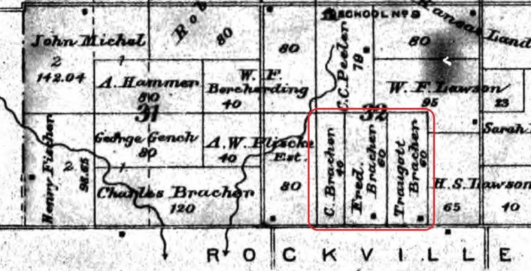 Bracher land map Bates County MO