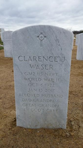 Clarence Waser gravestone Jefferson Barracks St. Louis MO