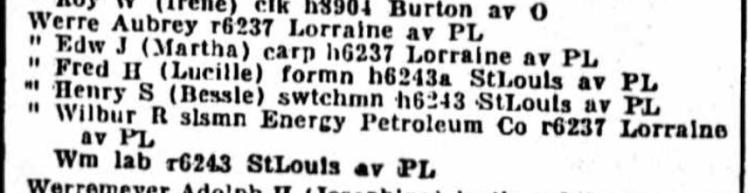 Edmund Werre 1936 St. Louis directory