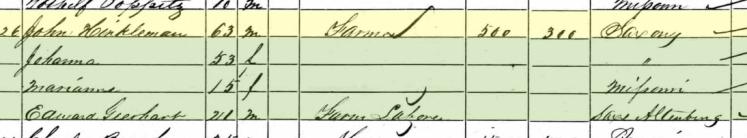 Edward Gerhardt 1860 census Brazeau Township MO