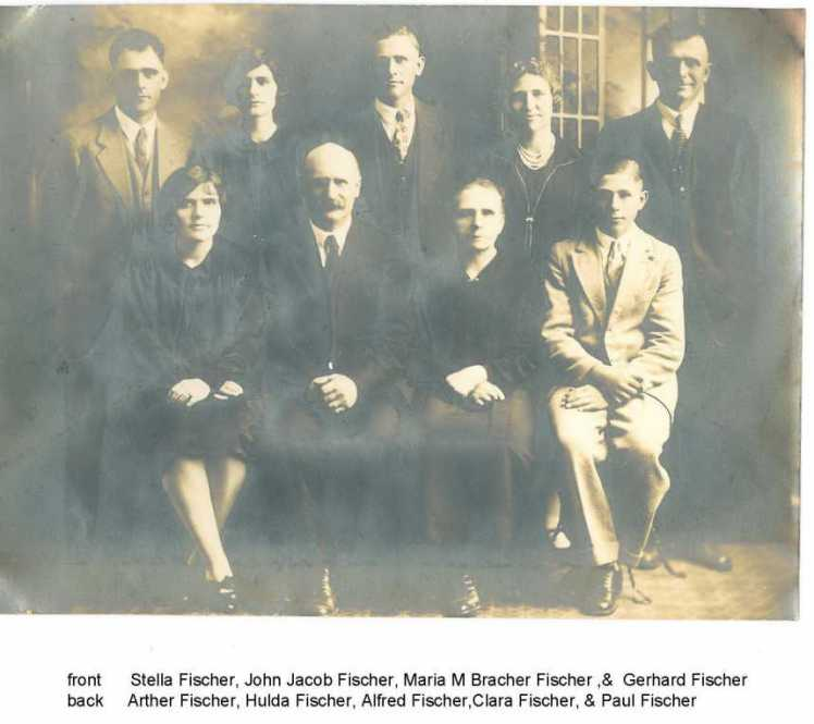 John Jacob Fischer family Prairie City MO