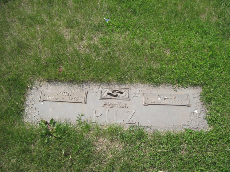 John and Grace Pilz gravestone Hillcrest Memorial Norfolk NE