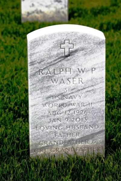 Ralph Waser gravestone Jefferson Barracks St. Louis MO