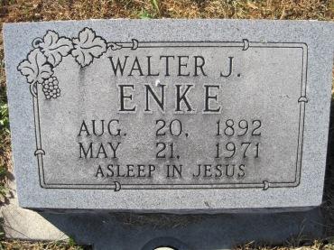 Walter Enke gravestone Trinity Altenburg MO
