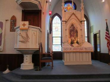 Zion Lutheran Church Prairie City MO interior