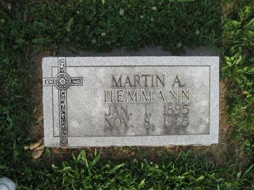 Martin Hemmann gravestone Salem Farrar MO