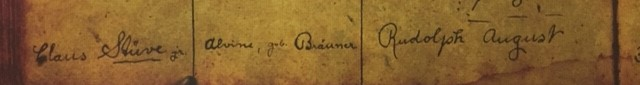 Rudolph Stueve baptism record 1 Immanuel Altenburg MO