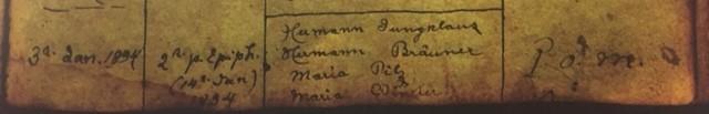 Rudolph Stueve baptism record 2 Immanuel Altenburg MO