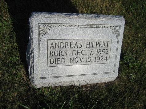 andreas hilpert gravestone st. paul's wittenberg mo