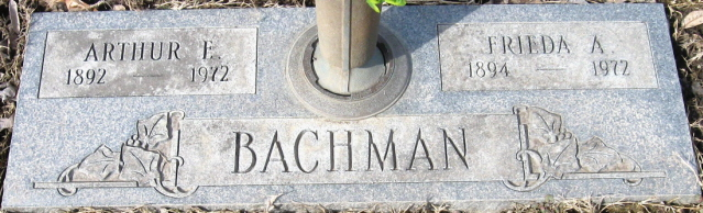 arthur and frieda bachmann gravestone restlawn cemetery coffeyville ks