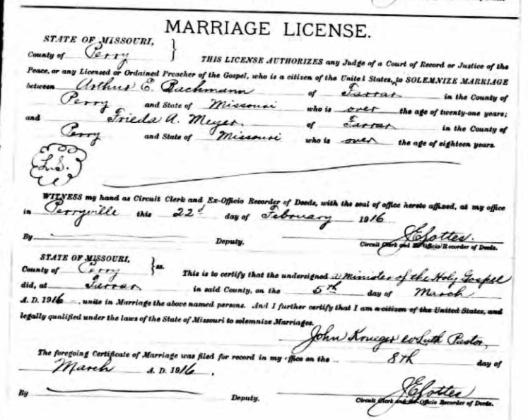 bachmann meyer marriage license