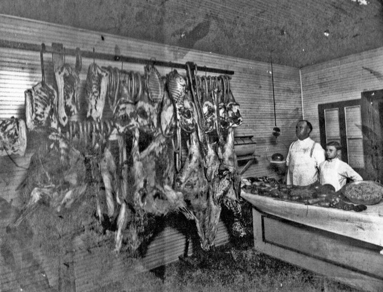butcher schmidt in shop