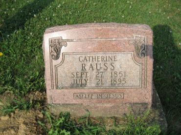 catherine rauss gravestone salem farrar mo