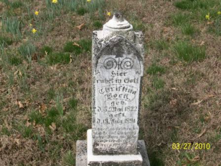 christine bock gravestone grace uniontown mo