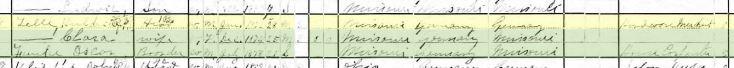 gottwerth telle 1900 census longtown mo