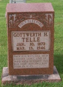 gottwerth telle gravestone zion longtown mo