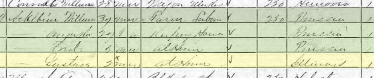 gustav ackelbein 1870 census wet mountain valley co