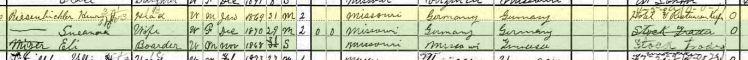 henry reisenbichler 1900 census shawnee township mo