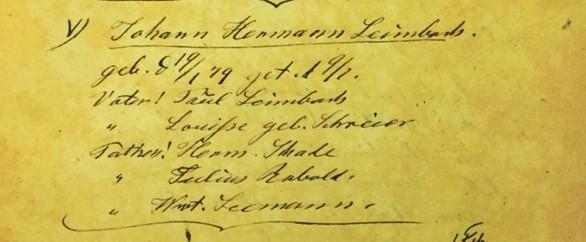 herman leimbach baptism record immanuel altenburg mo