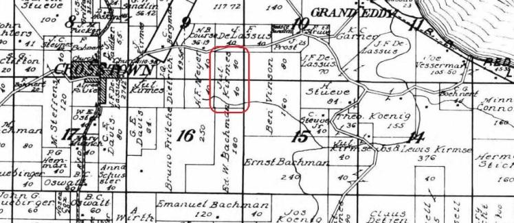 julius kirmse land map 1915