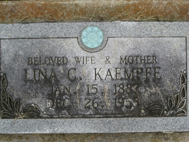 lina kaempfe gravestone concordia frohna mo