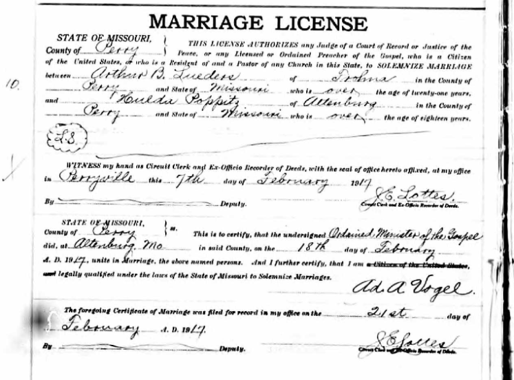 lueders poppitz marriage license