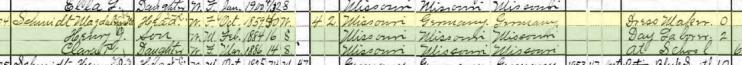 magdalena schmidt 1900 census frohna mo