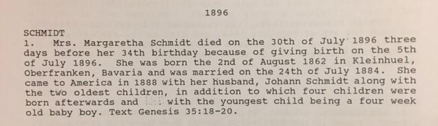 margarete schmidt death record cross congregation perry co. mo