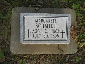margarete schmidt gravestone holy cross perry co. mo