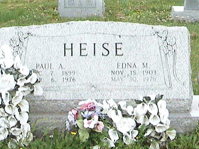 paul and edna heise gravestone immanuel perryville mo