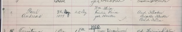 paul heise baptism record zion longtown mo