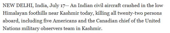 plane crash july 17 1950 india