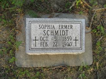 sophia ermer schmidt gravestone holy cross perry co. mo