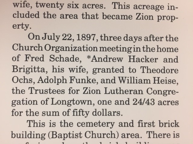 zion lutheran longtown history hacker heise