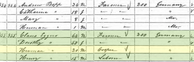 23. Claus 1850 census