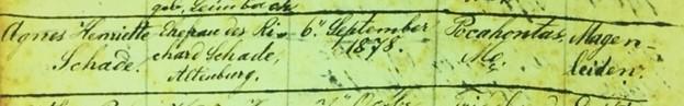 Agnes Schade death record Immanuel Altenburg MO