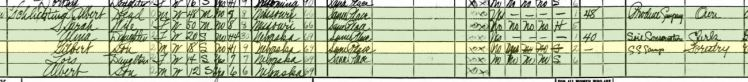 Albert Schlichting 1940 census Sidney NE