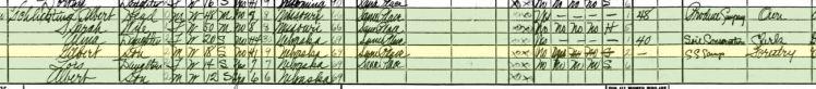 Albert Schlichting 1940 census Sidney NE