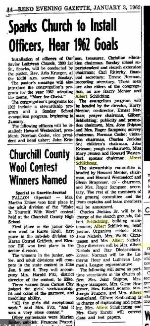 Albert Schlichting Reno newspaper article