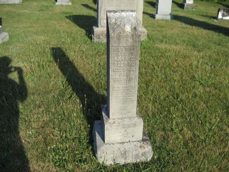 Anna Doering gravestone St. Paul's Wittenberg MO