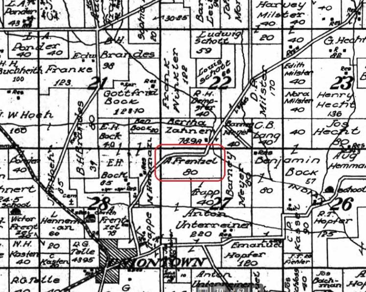 Arno Frentzel land map 1915