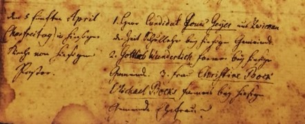 Benjamin Fiehler baptism record 1 Grace Uniontown MO