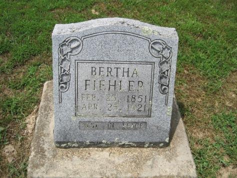 Bertha Fiehler gravestone Concordia Frohna MO